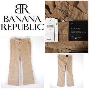 Banana Republic Martin Fit Beige Corduroys sz 14